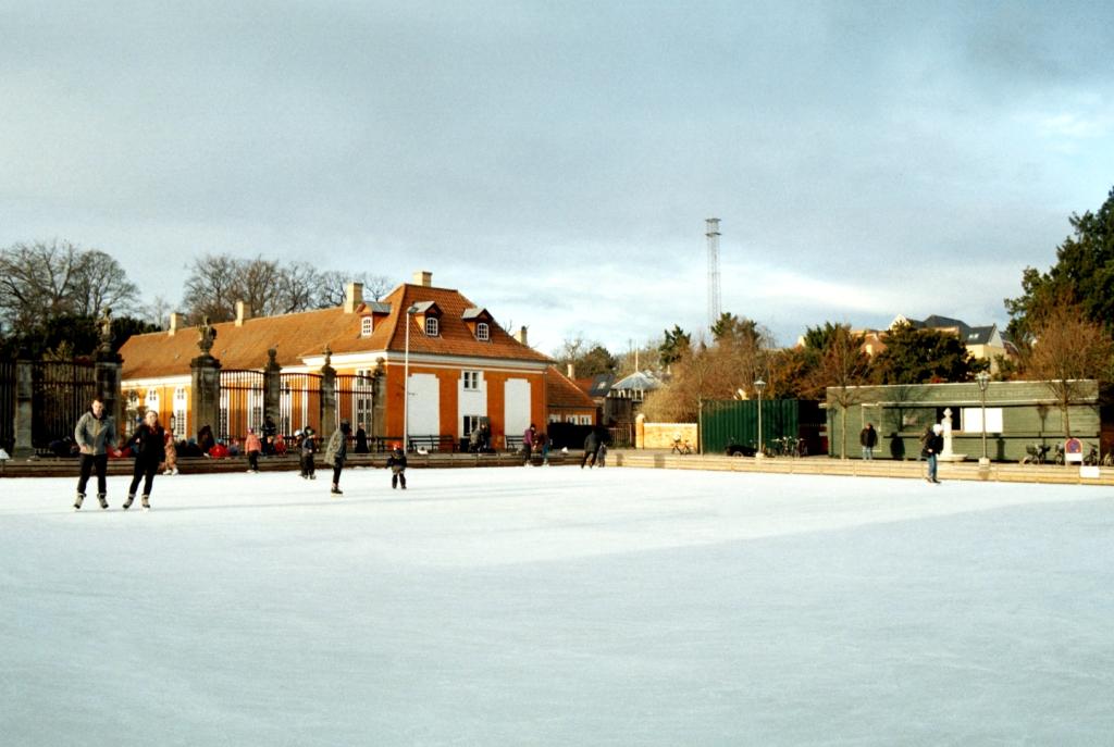 Frederiksberg Have Ice Skating Winter Gardens Slot Baroque Palace København Copenhagen Copenhej